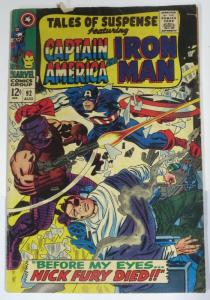 TALES OF SUSPENSE 92 VG    August 1967