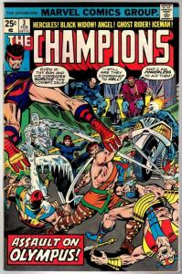 CHAMPIONS 3 VG Feb. 1976 COMICS BOOK