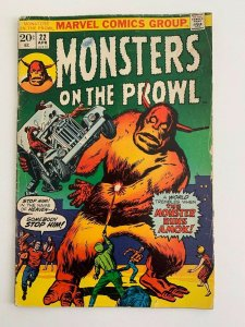 Monsters on the Prowl #22 1973 GD/VG 3.0 Stock Image Low Grade