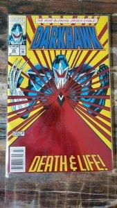 darkhawk # 25 1993 marvel  FOIL COVER FF THING EVILHAWK ORIGIN