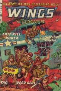 Wings Comics #122 POOR; Fiction House | low grade comic - save on shipping - det