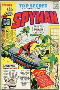 Spyman #1 1966-Harvey-1st issue-origin-1st Steranko comic book art-Tuska-VF