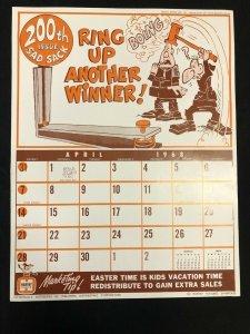 SAD SACK Harvey Comics Promo Sales Calendar Poster - April 1968