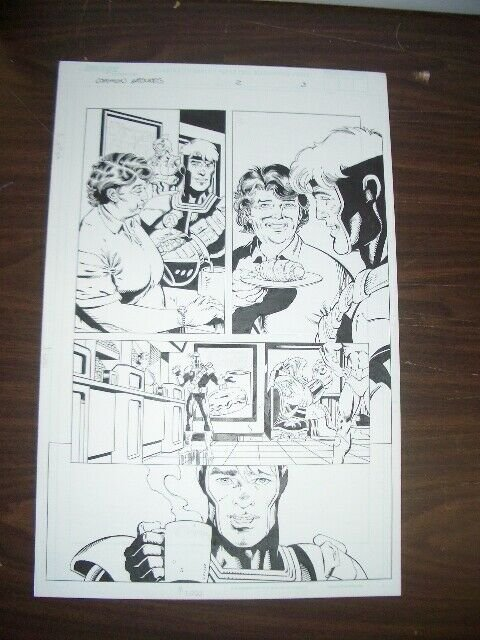 COMMON GROUNDS #2 PG 3-ORIGINAL COMIC ART-DAN JERGENS   FN