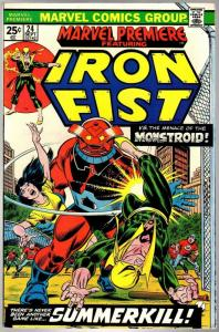 MARVEL PREMIERE 24 VF Sept. 1975  IRON FIST