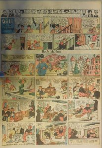 Boob McNutt Sunday by Rube Goldberg from 4/27/1930 Large Rare Full Page Size!