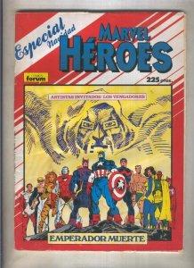 Marvel Heroes especial navidad 1987 (numerado 3 en trasera)