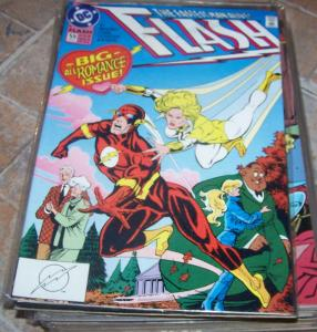 FLASH # 59 feb 1992 dc comics  cw tv show  WALLY WEST big romance issue