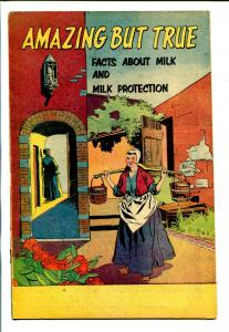 AMAZING BUT TRUE 1956-MILK INDUSRY-DISNEYLAND-PROMOTIONAL COMIC-vg/fn
