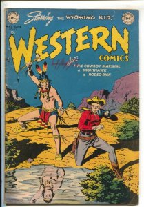 Western #33 1952-DC-Indian attack cover-Wyoming Kid-Rodeo Rick-Nighthawk-Rube...