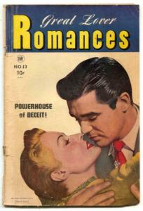 Great Lover Romance #13 1953- Love in a Taxi- Golden Age VG