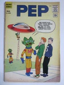 PEP 153 VG- 3/1962 Archie, Jughead, UFOS! COMICS BOOK