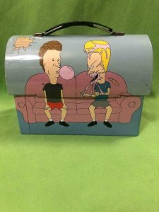 MTV - BEAVIS and BUTTHEAD Lunch Box Stash Metal on couch 2011 new out of case, C