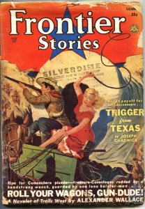 FRONTIER STORIES 1951-SUMMER-WHITE EAGLE-GEORGE GROSS COVER ART--PULP