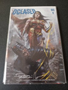 DCEASED #1 SCORPION COMICS VARIANT SIGNED BY LUCIO PARRILLO WITH COA