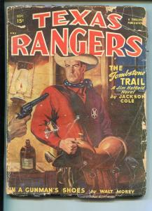 TEXAS RANGERS-09/1948-WESTERN PULP THRILLS-JIM HATFIELD-good