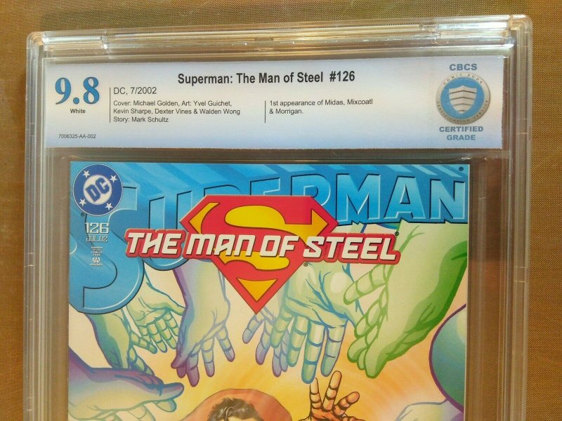 Superman: The Man Of Steel #126 CBCS certified grade 9.8 white pages (DC 2002)