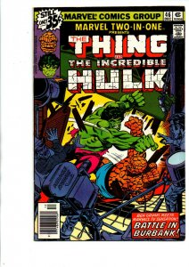 Marvel Two in One #46 newsstand - Hulk vs Thing - 1978 - Very Fine/Near Mint