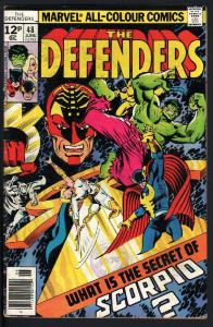 THE DEFENDERS #48 1977-marvel hulk moon knight-PENCE VARIANT