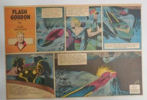 Flash Gordon Sunday by Alex Raymond from 10/17/1943 Half Page Size !