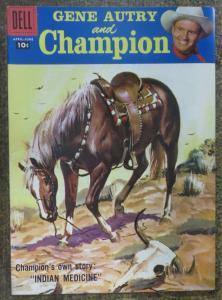 GENE AUTRY and CHAMPION (Dell, 4/1958) #118 VERY FINE (VF). Photo Cover Comic!