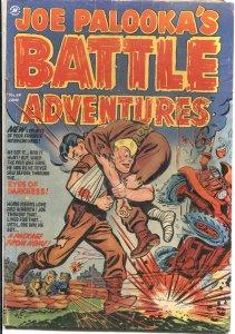 JOE PALOOKA'S BATTLE ADVENTURES #69-1952-INJURY TO THE EYE-TORTURE-BONDAGE-WAR