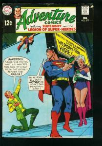 ADVENTURE COMICS #377 1968-PSYCHEDELIC STORY-SUPERBOY-LEGION SUPER HEROES-VG