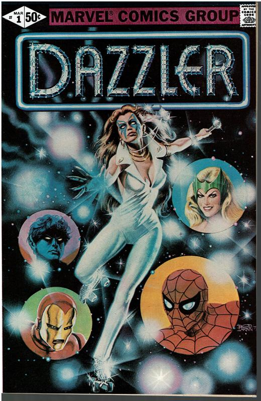 Dazzler #1, 9.0 or Better, ERROR VERSION, B&W AD Pages