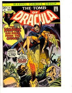 Tomb Of Dracula # 14 NM Marvel Comic Book Vampire Monster Horror Fear TD7