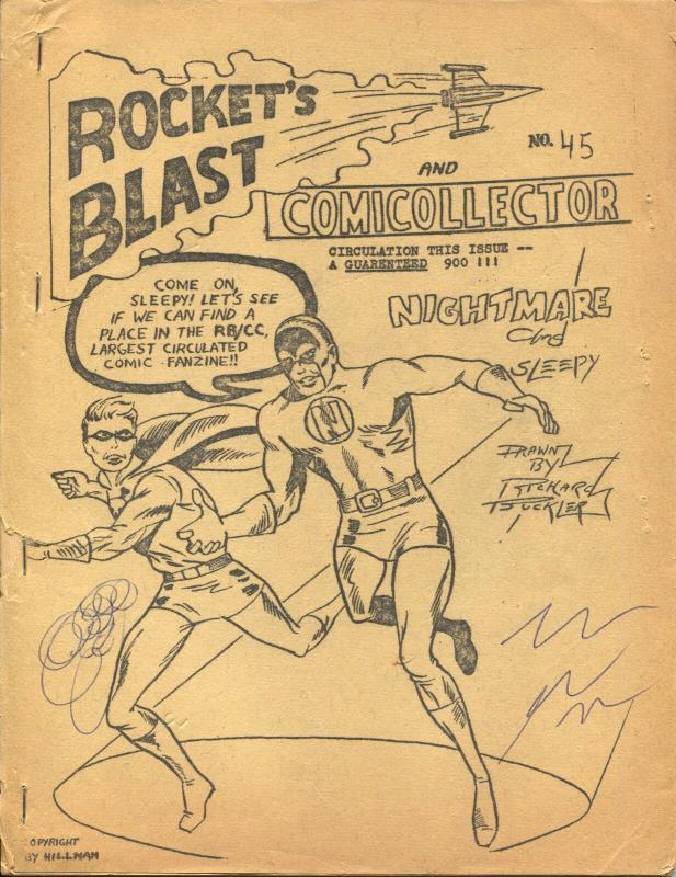 Rocket's Blast  & Comicollector #45 1966-Phil Seuling-Rogofsky-Jerry Bails-VG-