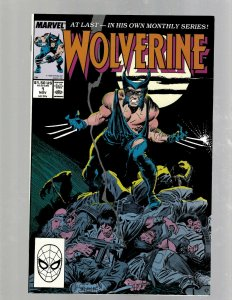 Wolverine # 1 NM 1st Print Marvel Comic Book X-Men Sabretooth Gambit Storm SB5