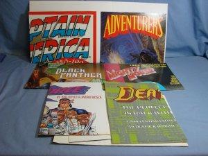 1990s Comic Book Store Poster Lot Retail Promo Superman Captain America X-Force!