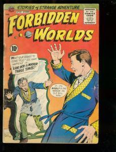 FORBIDDEN WORLDS #99 1961-MIRROR COVER VG