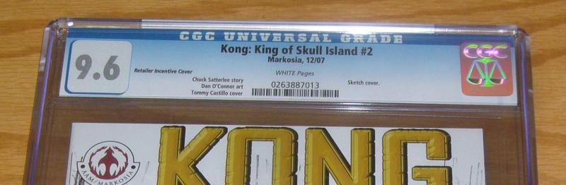 Kong: King of Skull Island #2 CGC 9.6 retailer incentive sketch variant cover B