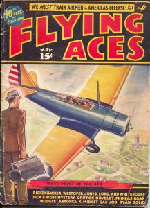Flying Aces 5/1937-August Schomburg-pulp thrills-Al McWilliams-VG-