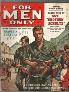 For Men Only-2/1959-Atlas-machine gun-Nazi torture-Mort Kunstler-VG-