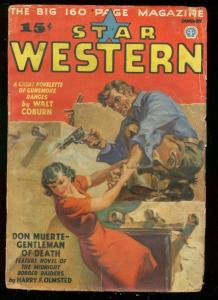 STAR WESTERN PULP JAN 1937-DON MUERTE-SAUNDERS GIRL ART VG-