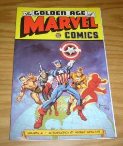 Golden Age of Marvel Comics TPB 2 VF/NM captain america - mickey spillane intro