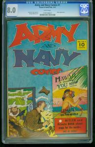 Army and Navy Comics #1- CGC 8.0 Hitler appearance- Southern States 1197194017