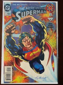 Adventures of Superman #0 1994 VF 8.0 signed by Ray McCarthy