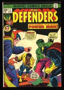 Defenders #17 FN+ 6.5 Hulk Dr. Strange Luke Cage!