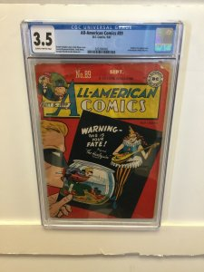 All-American Comics #89 CGC 3.5 VG- 1947 DC harlequin origin GOLDEN AGE mayne