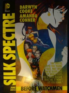 SILK SPECTRE BEFORE WATCHMEN Promo Poster, 11 x 17, 2012, DC Connor Cooke Unused
