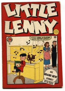 Little Lenny #1 1949-Dell-1st issue-kid humor-Vic Dowd-Stan Lee-VG+