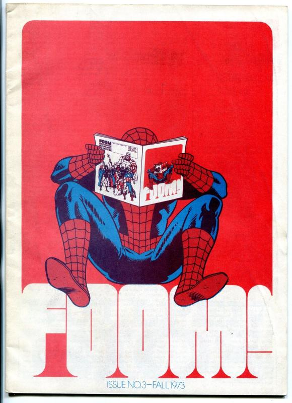 FOOM fanzine #3 1974- infinity cover- spider-man marvel comics FN
