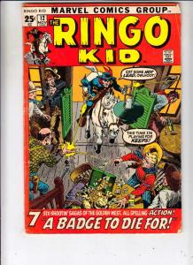 Ringo Kid #12 (Jan-72) FN- Mid-Grade Ringo Kid
