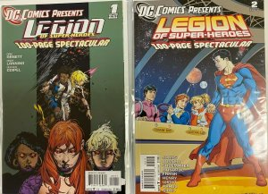 Legion of superheroes set:#1+2 8.0 VF (2011)