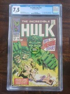 Incredible Hulk 102 CGC 7.5 White pages Origin of the Hulk retold