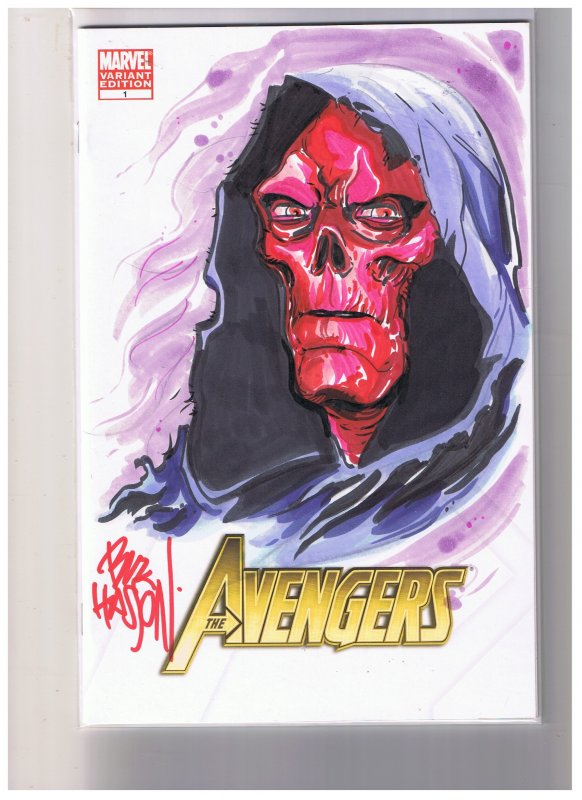 Avengers #1 Blank Varient  Signed and Cover Art By Buz Hasson  VF/NM