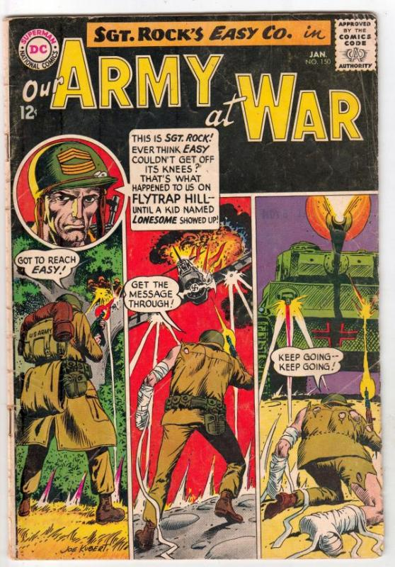 Our Army at War #150 (Jan-65) VG+ Affordable-Grade Easy Company, Sgt. Rock